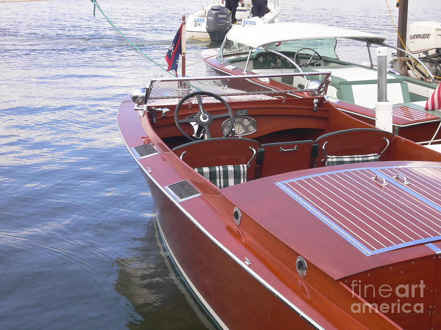 Boat Photograph - Chris Craft by Neil Zimmerman