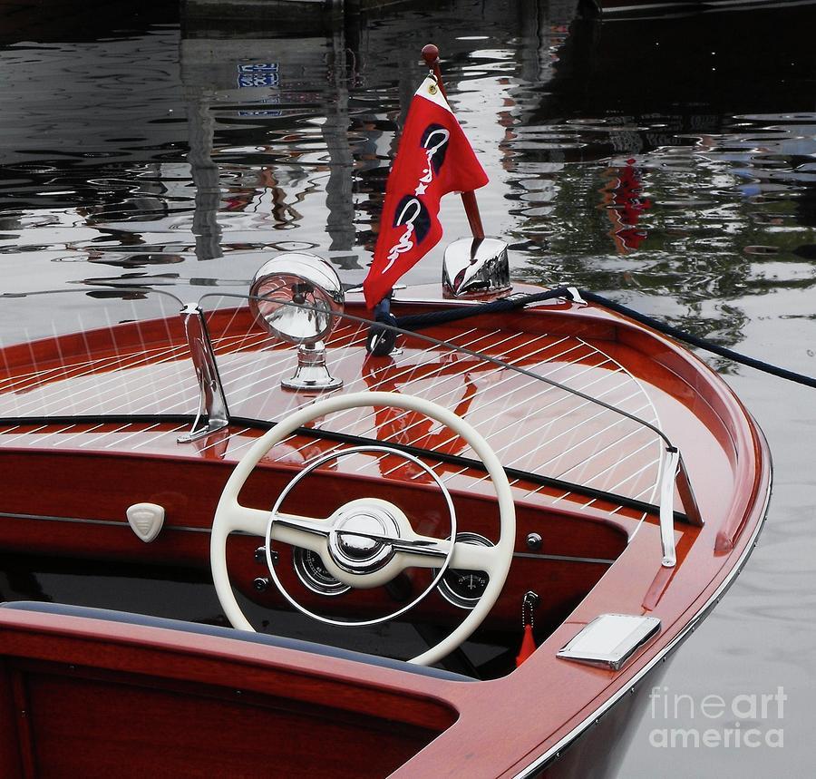 Boat Photograph - Chris Craft Sportsman by Neil Zimmerman