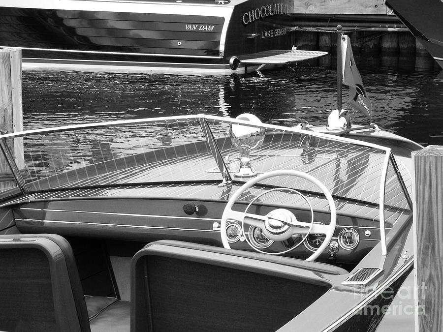Chris Craft Photograph - Chris Craft Utility by Neil Zimmerman