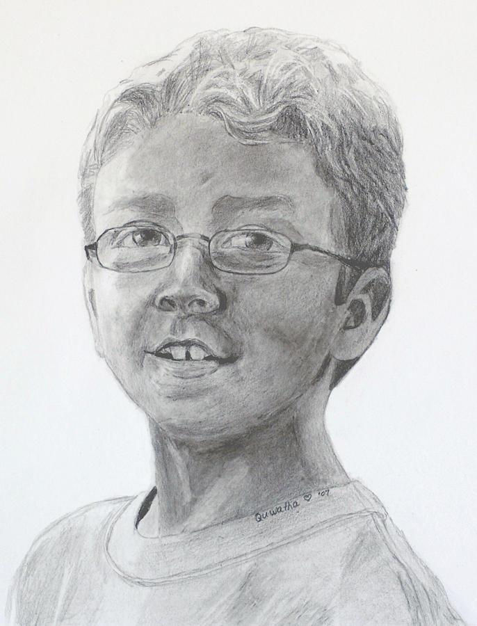 Chris Drawing - Chris Dovick by Quwatha Valentine