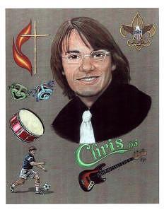 Music Drawing - Chris by Frank Rosalez Jr
