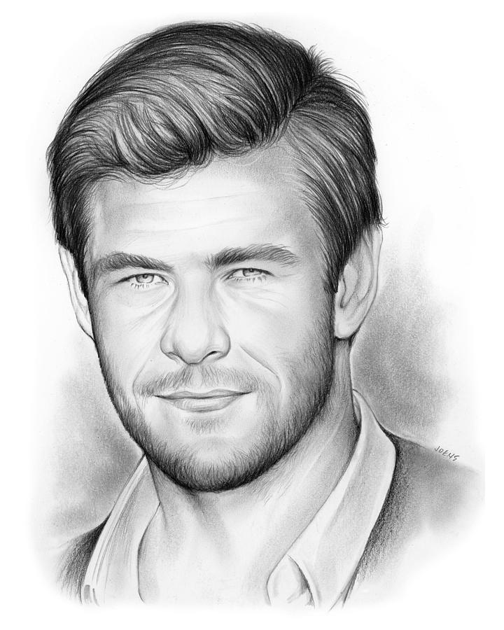 Chris Hemsworth Drawing - Chris Hemsworth by Greg Joens