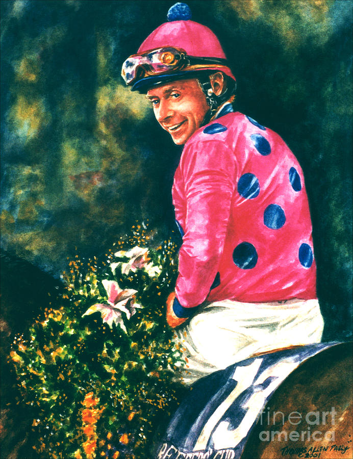 Derby Painting - Chris Mccarron Up by Thomas Allen Pauly