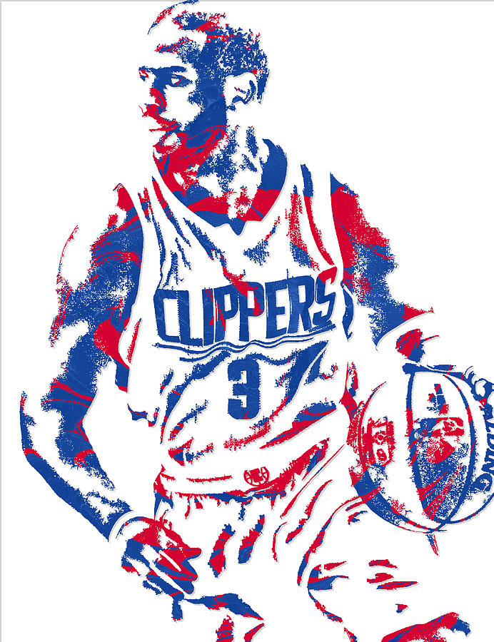 Chris Paul Losangeles Clippers Pixel Art 5