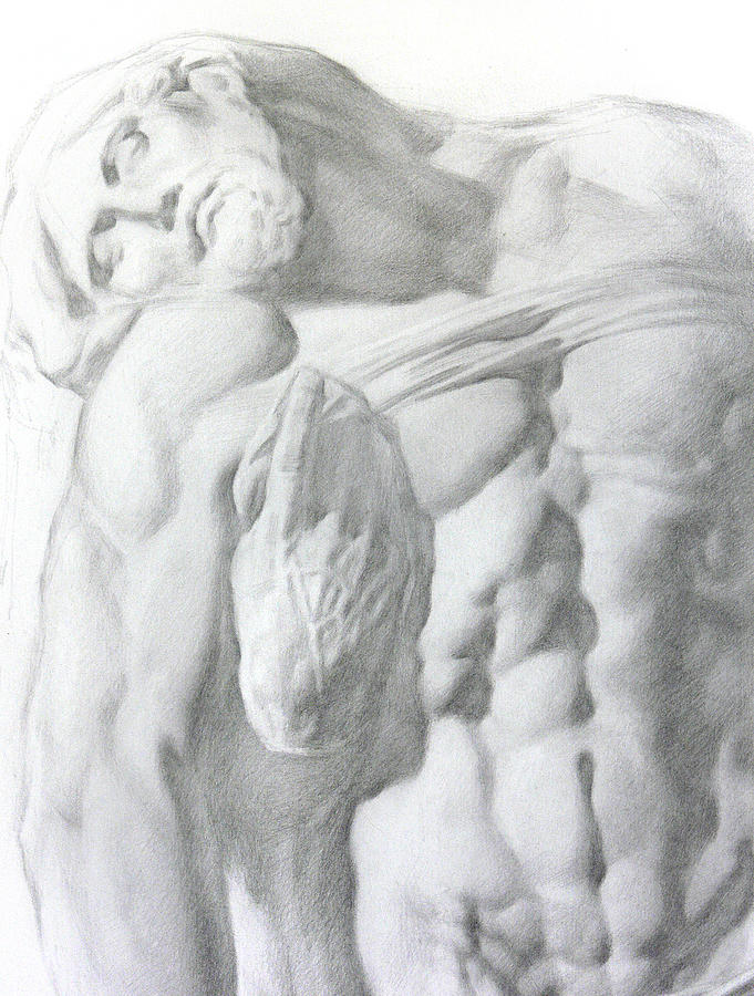 Nude Drawing - Christ 1a by Valeriy Mavlo