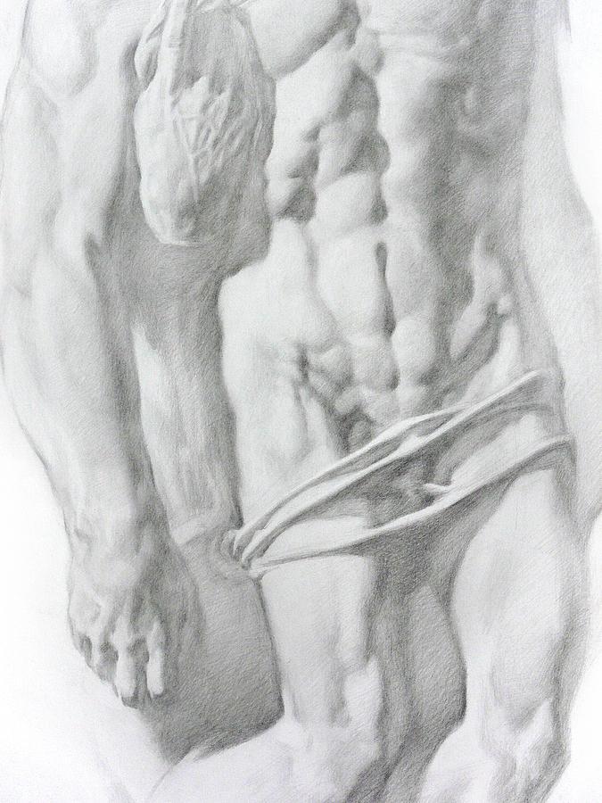 Nude Drawing - Christ 1b by Valeriy Mavlo