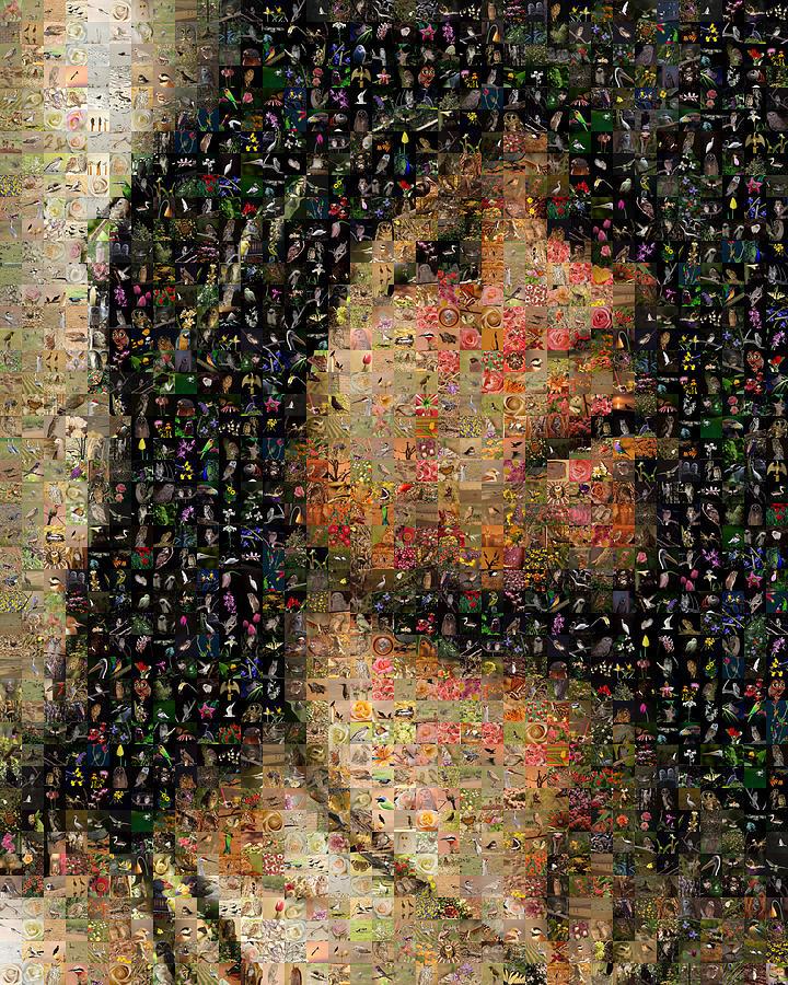 Mosaic Digital Art - Christ At The Column by Gilberto Viciedo