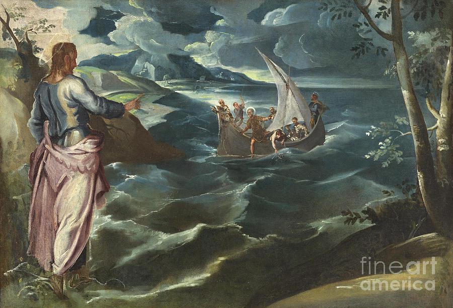 Italian Painting - Christ At The Sea Of Galilee by Celestial Images