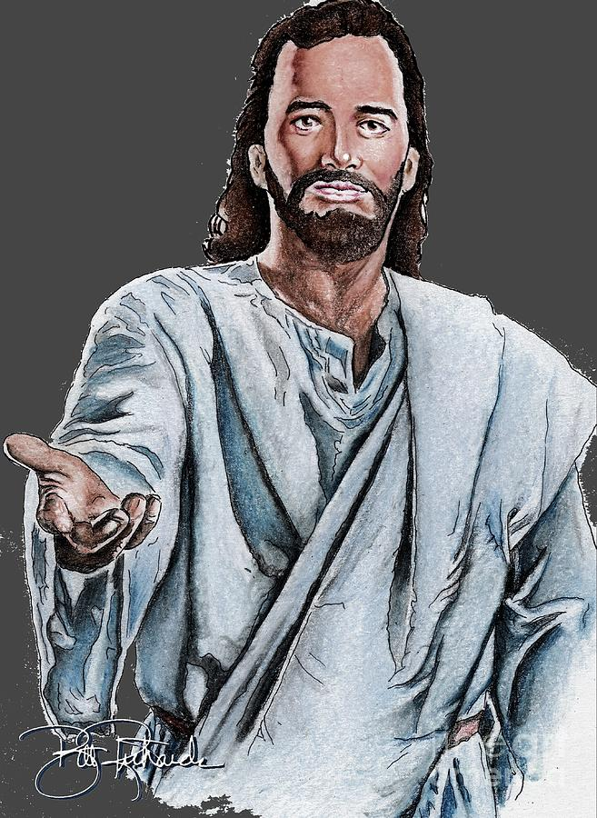 Jesus Drawing - Christ by Bill Richards