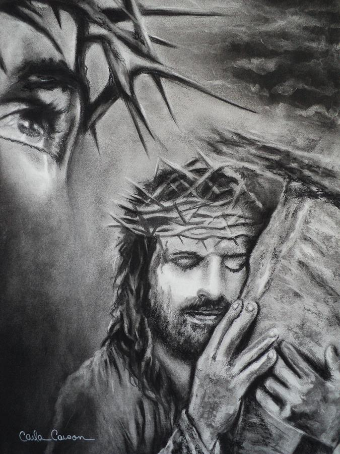 Christ Drawing - Christ by Carla Carson