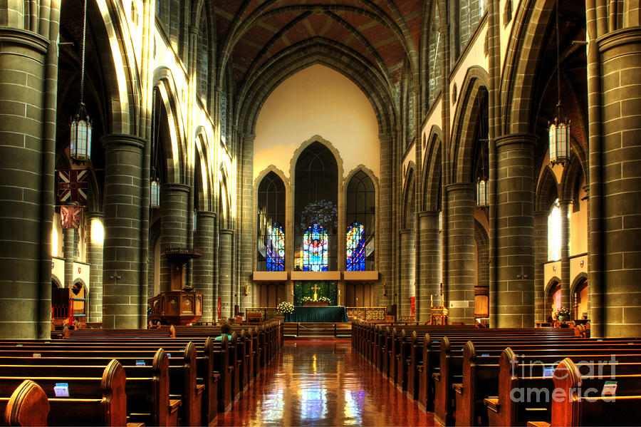 Christ Church Cathedral Photograph - Christ Church Cathedral Victoria Canada by Bob Christopher