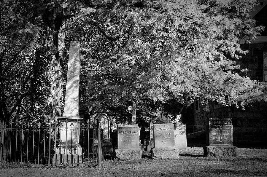 Christ Church Photograph - Christ Church Graveyard by Mick Burkey