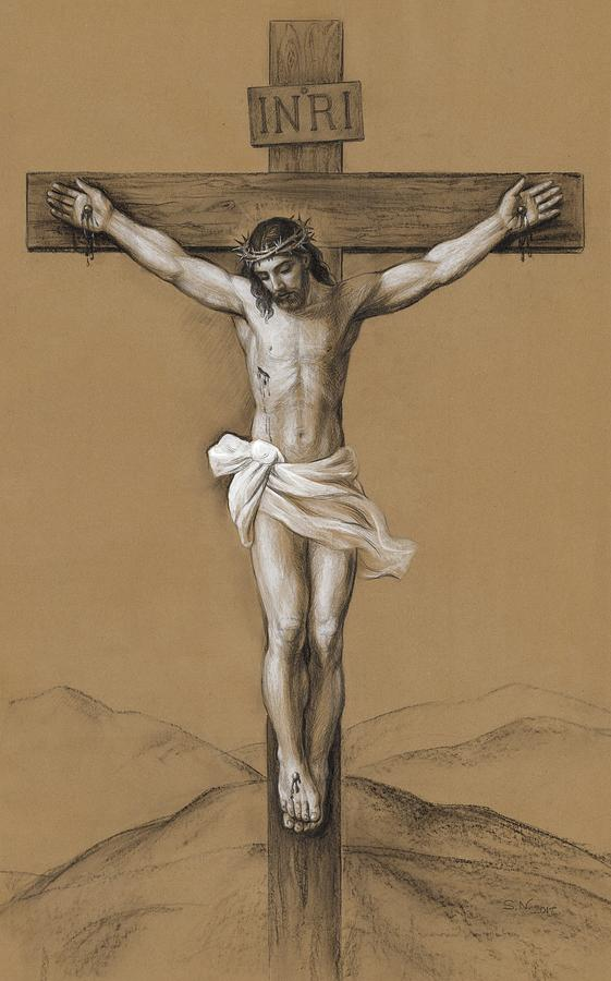 Christ Crucified Drawing