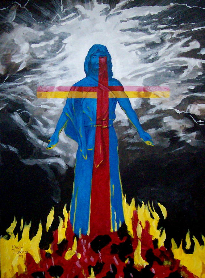 Cross Painting - Christ by David  Larcom