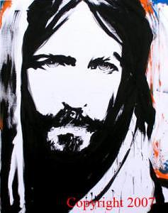 Christ Eyes Painting by Mike Lewis