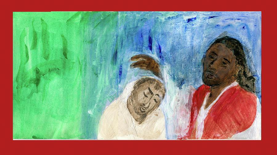 Christ heals the leper by Claremaria Vrindaji Bowman