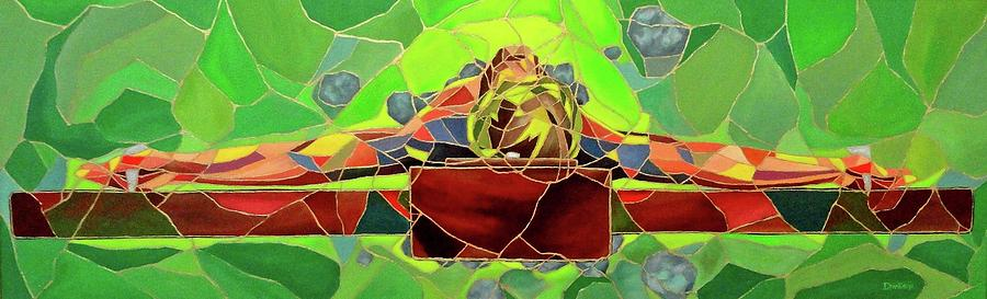 Christ Painting - Christ In Stained Glass by Kevin Davidson