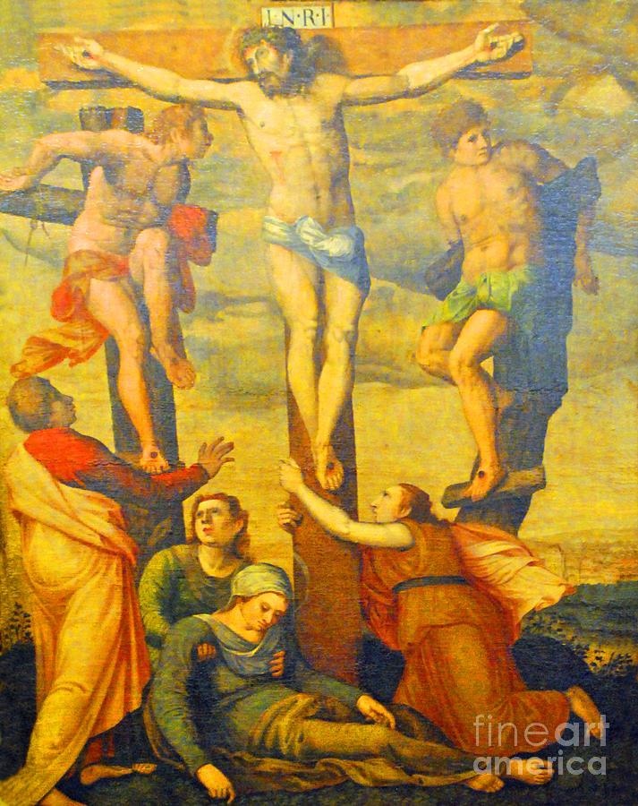 Wittenberg Photograph - Christ On Cross Germany by Jost Houk