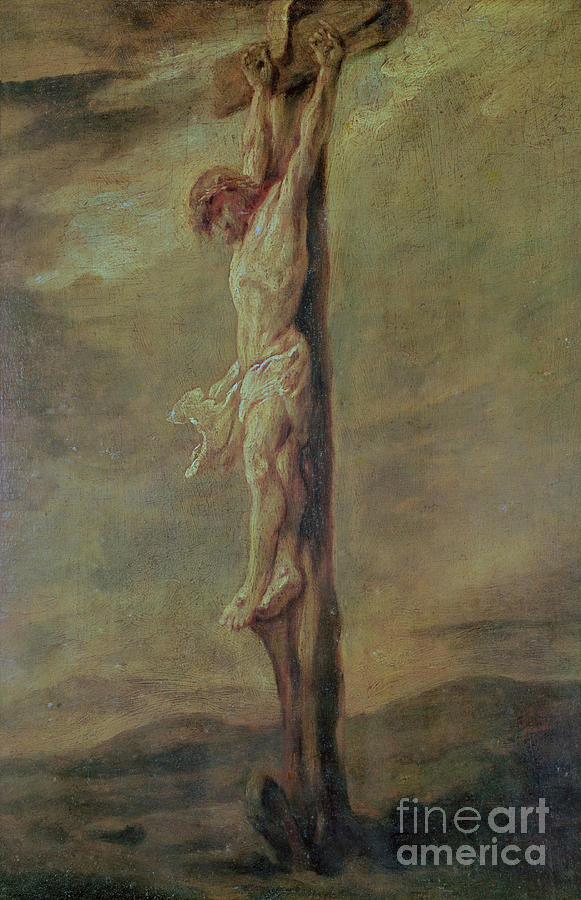 Christ On The Cross Painting by Rembrandt Jesus On The Cross Painting