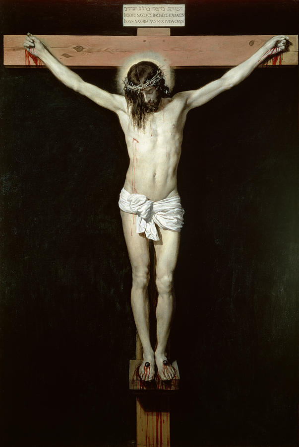 Christ Painting - Christ On The Cross by Velazquez