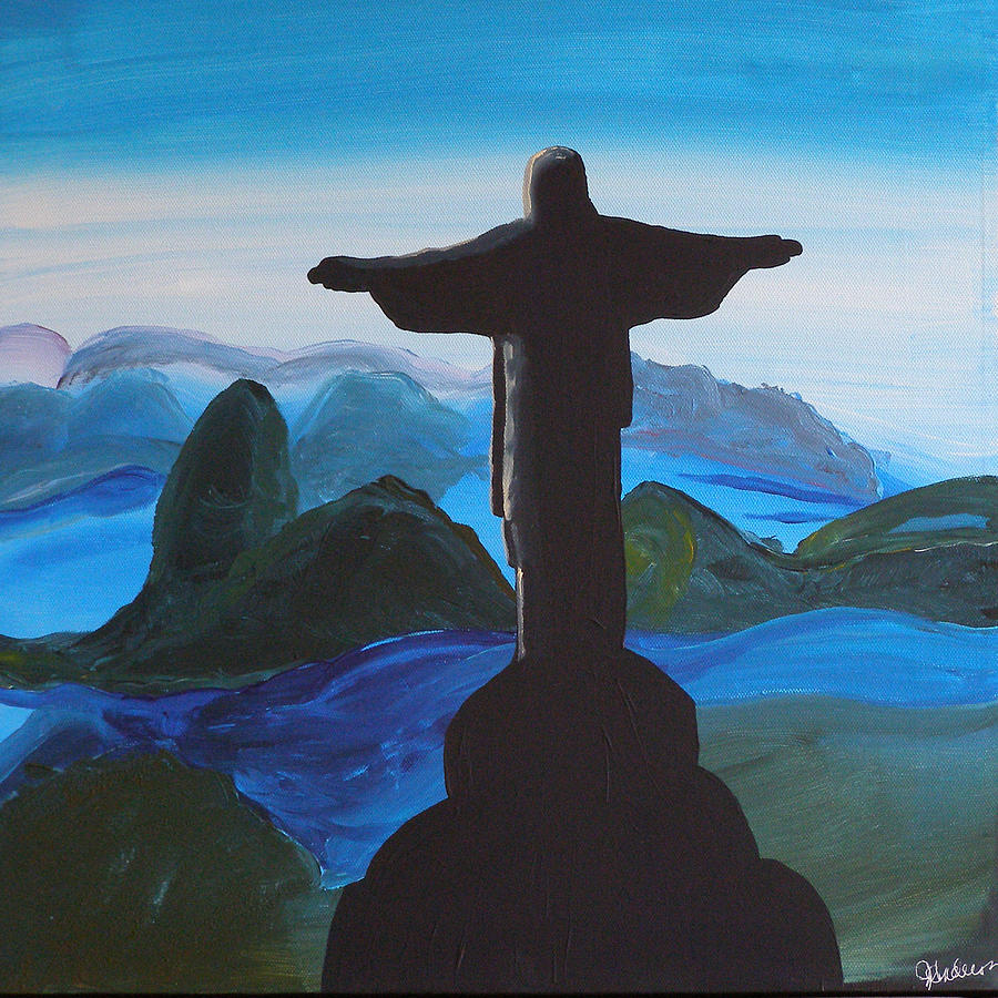 Christ The Redeemer : Christ redeemer painting by jennifer anderson
