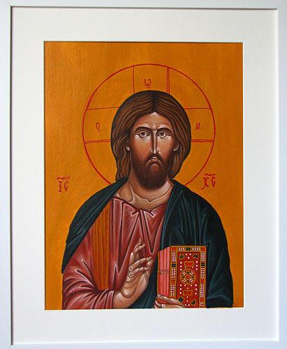 The Christ Painting - Christ The Savior by Biljana Vujaklija
