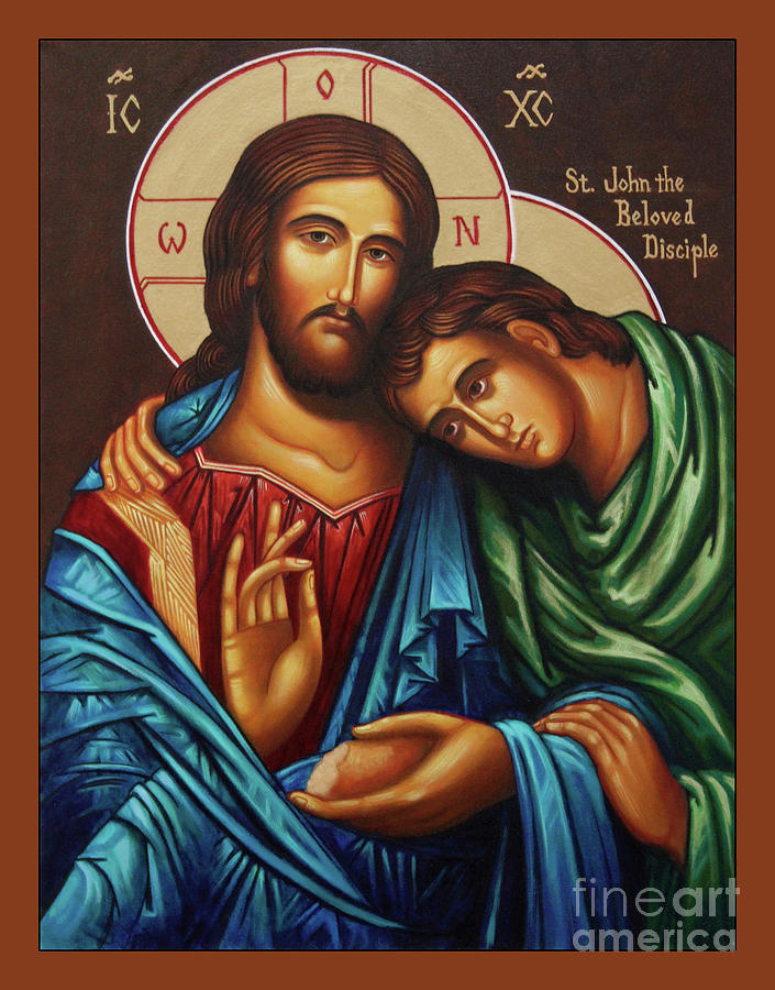 Christ Painting - Christ With St. John  by Ann Chapin