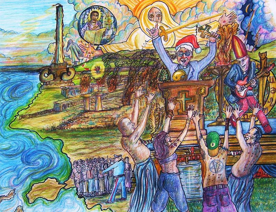 Revelation Drawing - Christamas In Ephesus by Richard  Hubal