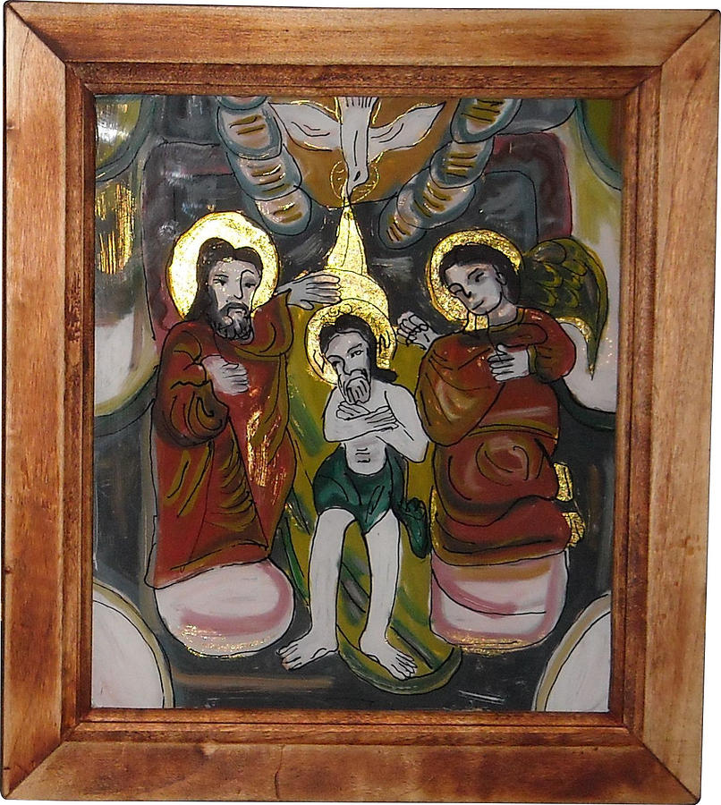 Bran Painting - Christening by I S B family
