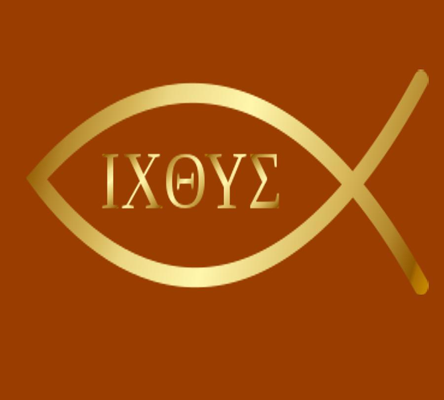 Christian Fish Symbol Ichthys Mixed Media By Gabby Dreams