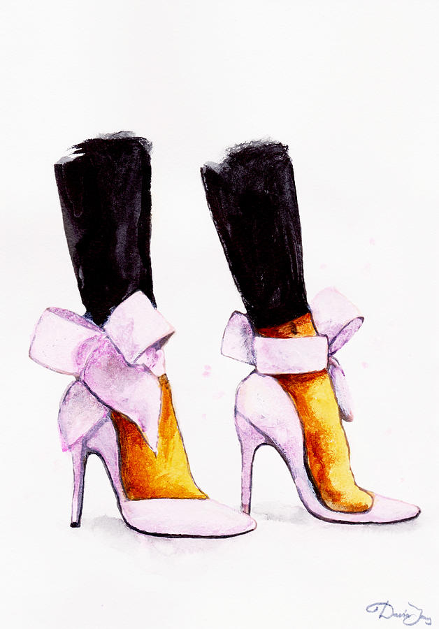 919fb17d25cf Christian Louboutin Shoes Painting by Del Art