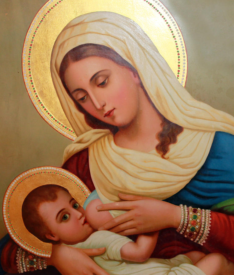 Christianity Painting - Christianity - Baby Jesus by Munir Alawi