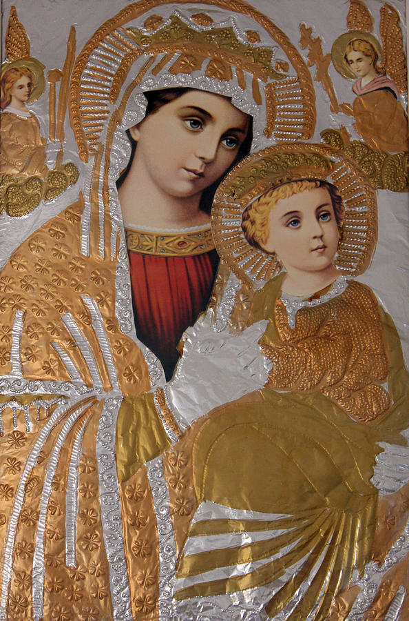 Christian Photograph - Christianity - Mary And Jesus by Munir Alawi