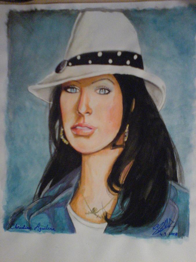 Tom Cruise Painting - Christina Allergera by Sandeep Kumar Sahota
