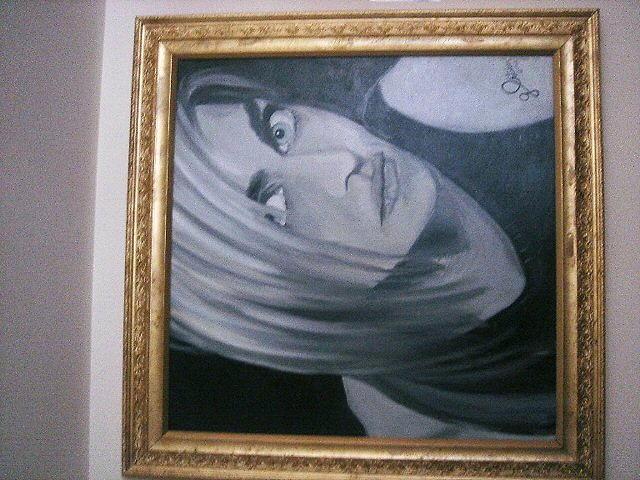 Female Painting - Christina by G Oktober
