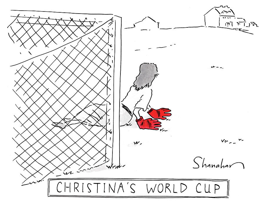 Christinas World Cup Drawing by Danny Shanahan