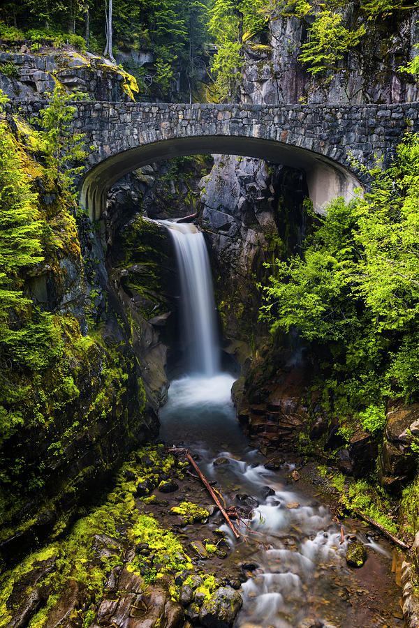 Christine Falls Photograph - Christine Falls - Mount Rainer National Park by Stephen Stookey