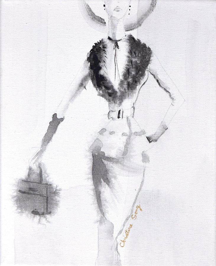 Fashion Illustration Painting - Christine No.1 by Christine Song