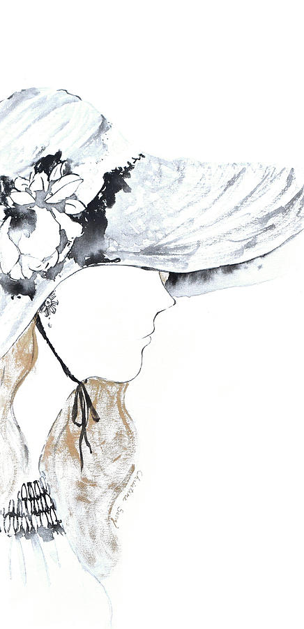 Fashion Illustration Painting - Christine No.2 by Christine Song