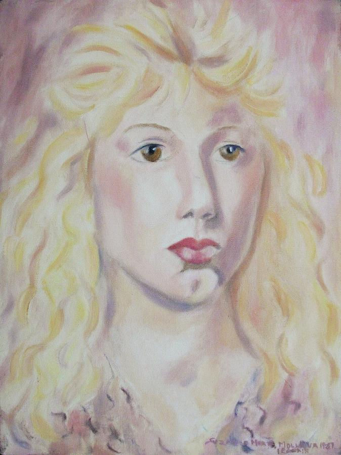 Blonde Painting - Christine by Suzanne  Marie Leclair