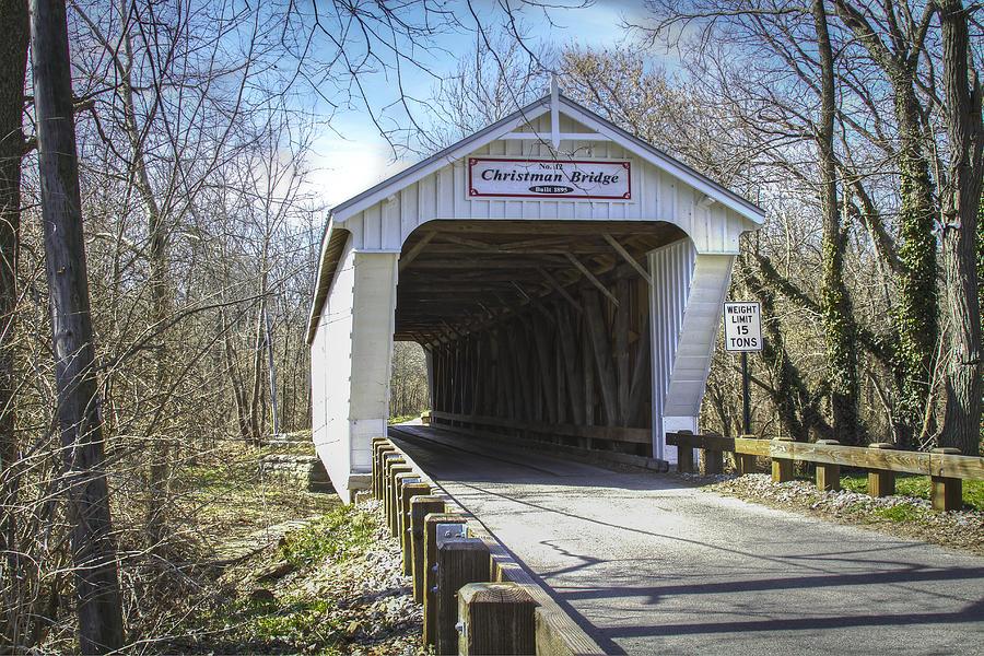 Christman  Covered Bridge Photograph