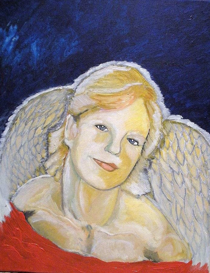 Christmas Angel   Finished Painting