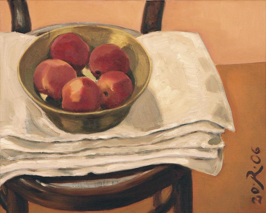 Christmas Apples Painting by Raimonda Jatkeviciute-Kasparaviciene