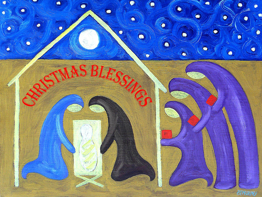 Christian Painting - Christmas Blessings 2 by Patrick J Murphy
