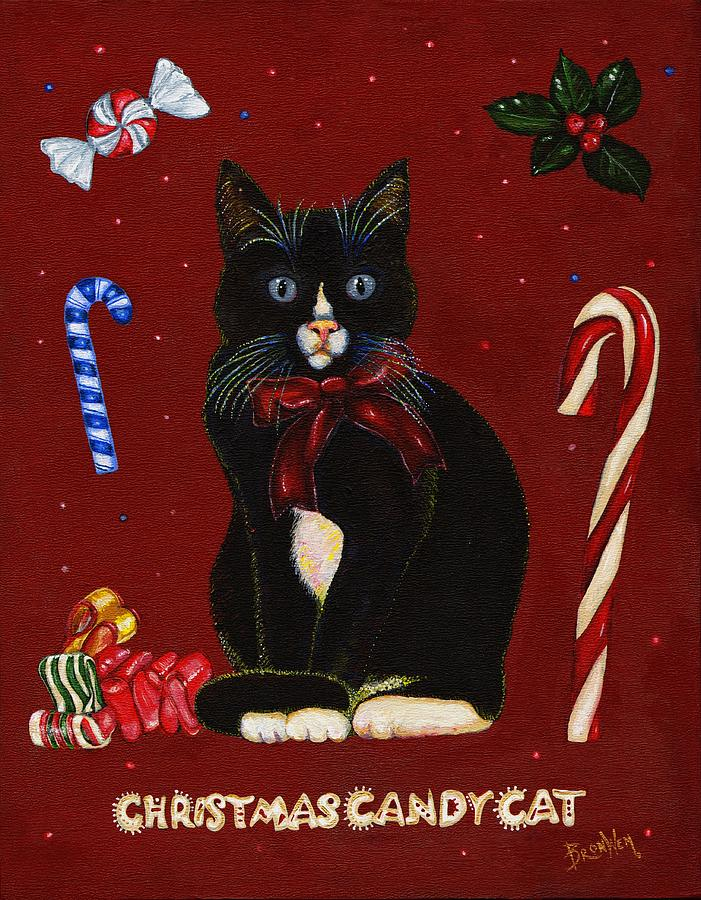 Christmas Candy Cat by Bronwen Skye