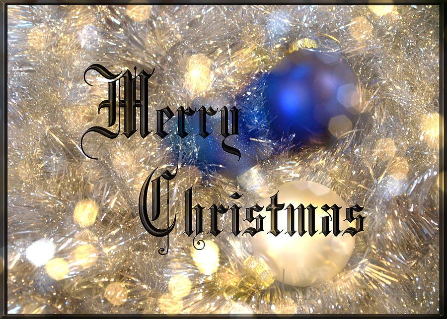 Holidays Photograph - Christmas Card Design Merry Christmas by Karen Musick