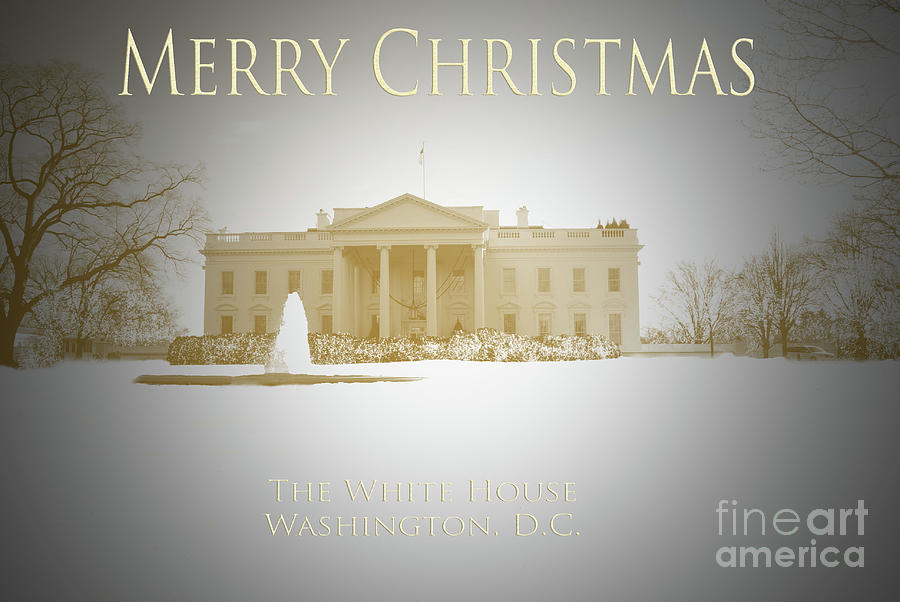 United Photograph - Christmas Card White House by Jost Houk