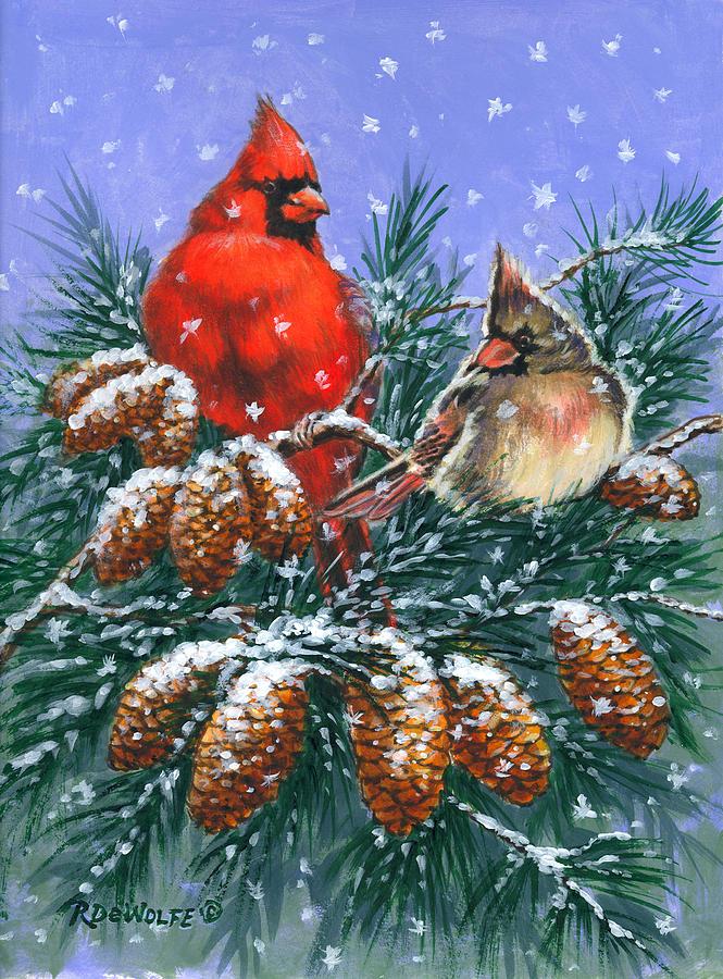 Christmas Cardinals Images.Christmas Cardinals 1