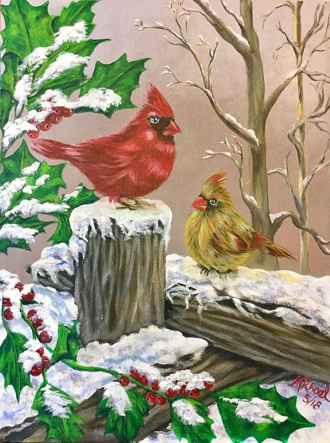 Christmas Cardinals Images.Christmas Cardinals