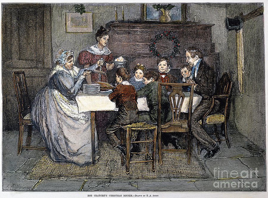 19th Century Drawing - Christmas Carol by Granger